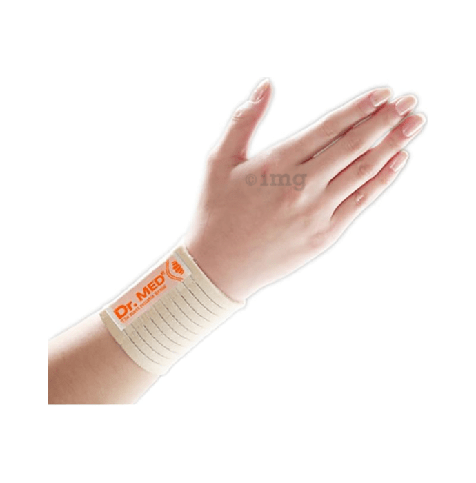 Dr MED Elastic Wrist Support with Adjustable Wrap DR-W008 L Beige