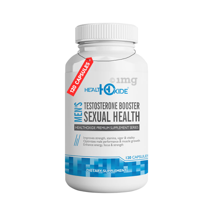 HealthOxide Men's Testosterone Booster Capsule: Buy bottle of 120 capsules at best price in