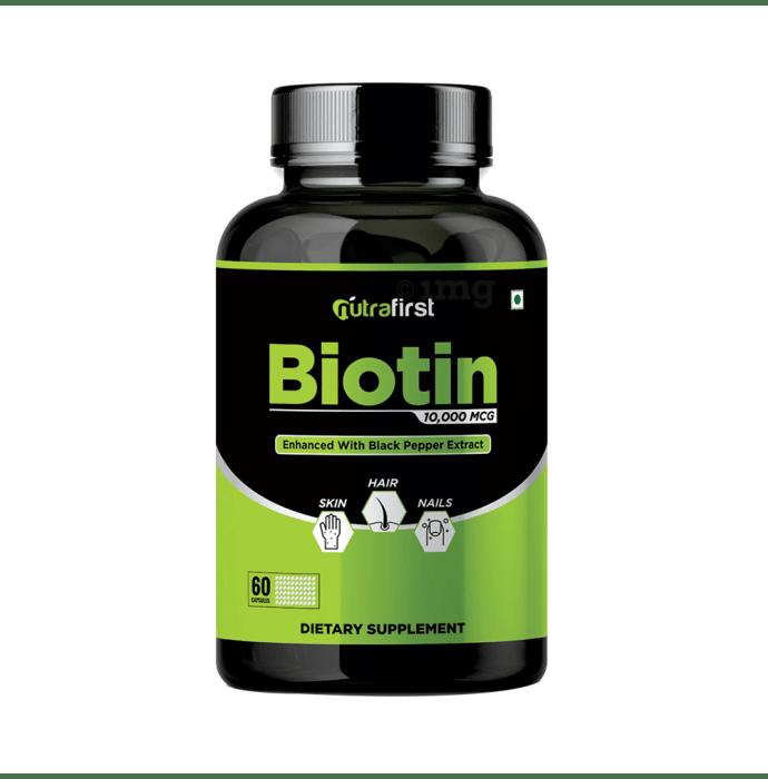 Nutrafirst Biotin 10,000mcg Capsule