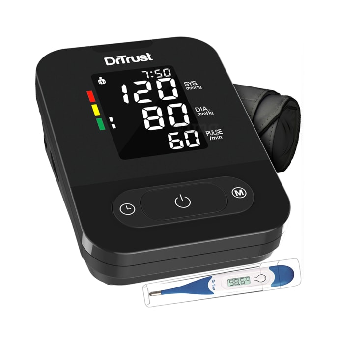 Dr Trust USA Smartheart Automatic Digital Talking Blood Pressure Monitor Black