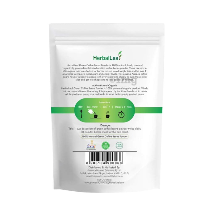 Herballeaf 100 Pure Natural Green Coffee Beans Powder Buy