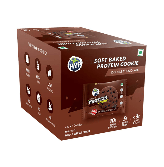 HYP Soft Baked Protein Cookie (42gm Each) Double Chocolate