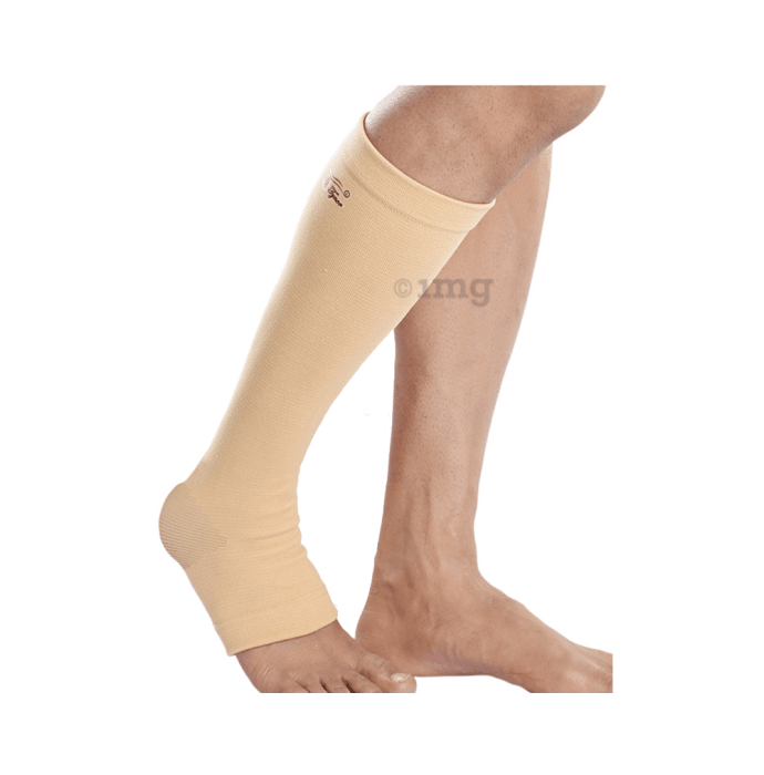 Tynor I66 Medical Compression Stocking Below Knee High Class 1 (Pair) Large