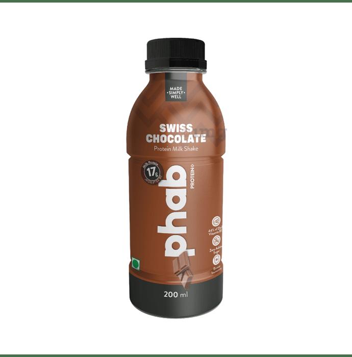 Phab Protein Milk Shake (200ml Each) Swiss Chocolate
