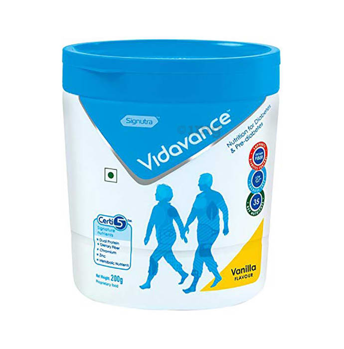 Vidavance Powder for Diabetes & Pre-Diabetes Vanilla