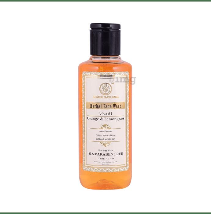 Khadi Naturals Ayurvedic Face Wash  Orange & Lemongrass SLS & Paraben Free