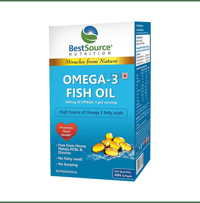BestSource Nutrition Omega-3 Fish Oil Softgels