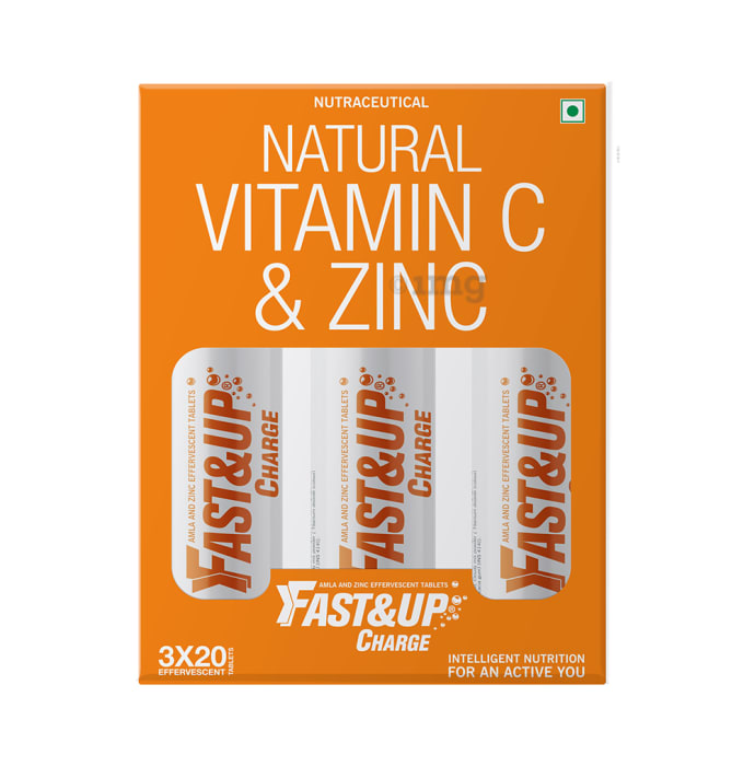 Fast&Up Charge Natural Vitamin C & Zinc Effervescent Tablet Orange