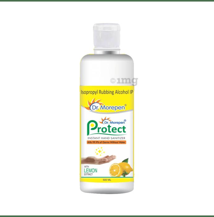 Dr Morepen Protect Instant Hand Sanitizer Lemon