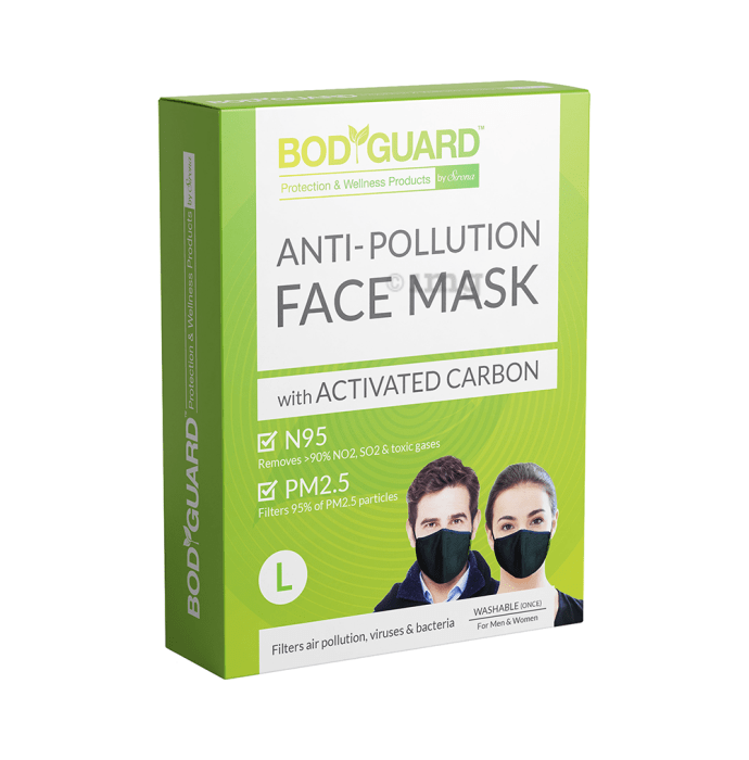 Bodyguard Anti-Pollution Mask with Activated Carbon, N95 + PM2.5 L