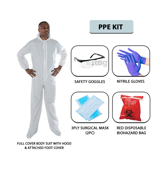 MCP Disposable Personal Protection Equipment (PPE Kit) Free Size