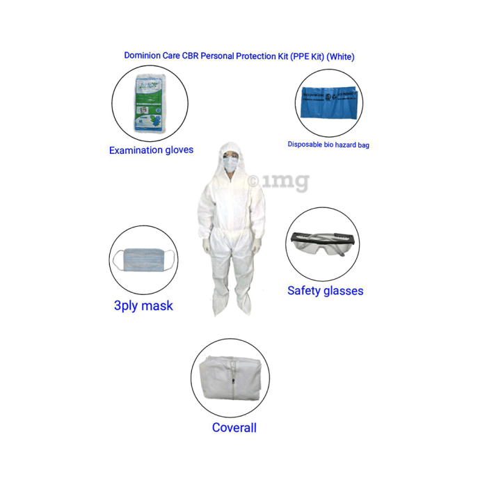 Dominion Care CBR Personal Protection (PPE) Kit White