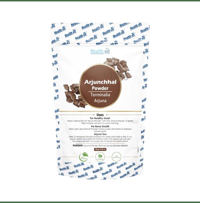 HealthVit Arjunchhal (Terminalia Arjuna) Powder