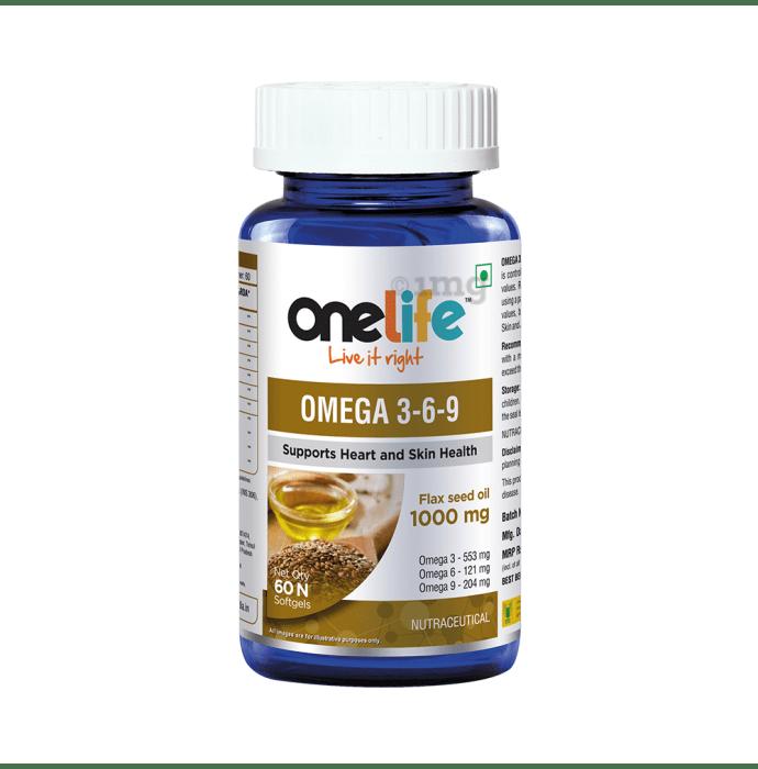 OneLife Omega 3-6-9 Softgels