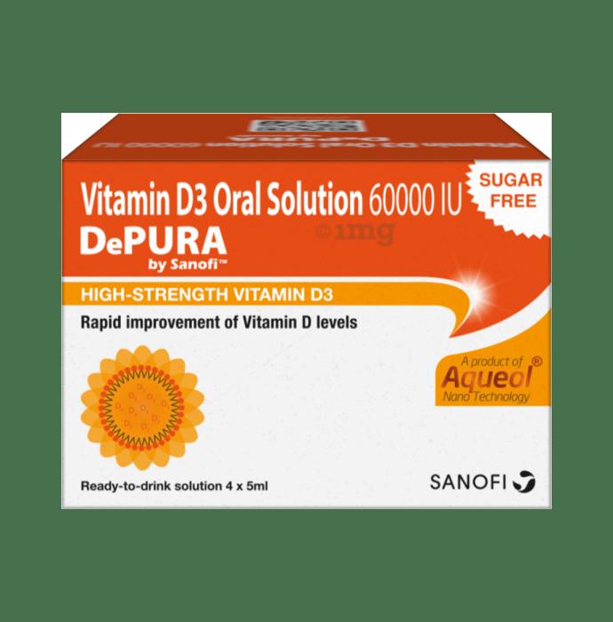 Depura Vitamin D3 60000IU Oral Solution (5ml each) Sugar Free