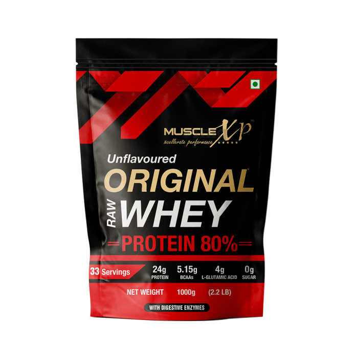 MuscleXP Raw Whey Protein 80% Unflavoured