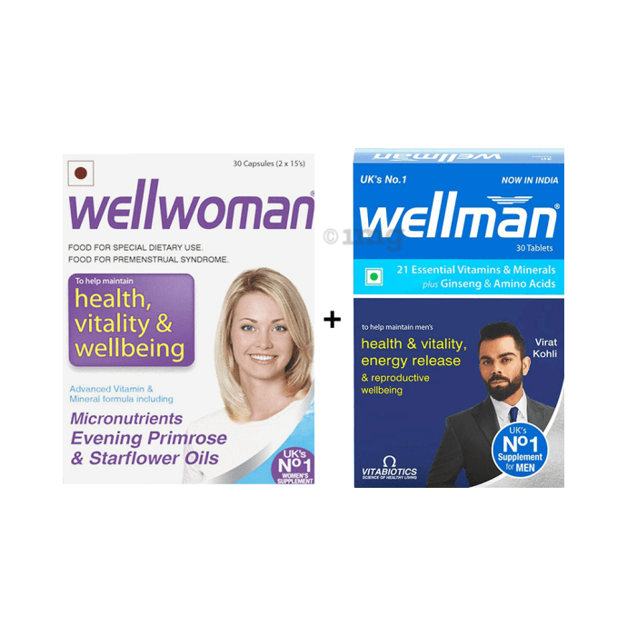 Wellwoman Health Supplement Capsule with Wellman 30 Tablet Free