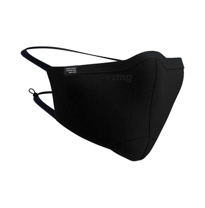 Cross Color Free Size Black Ultra Shield CC 95 Reusable Cotton Face Mask