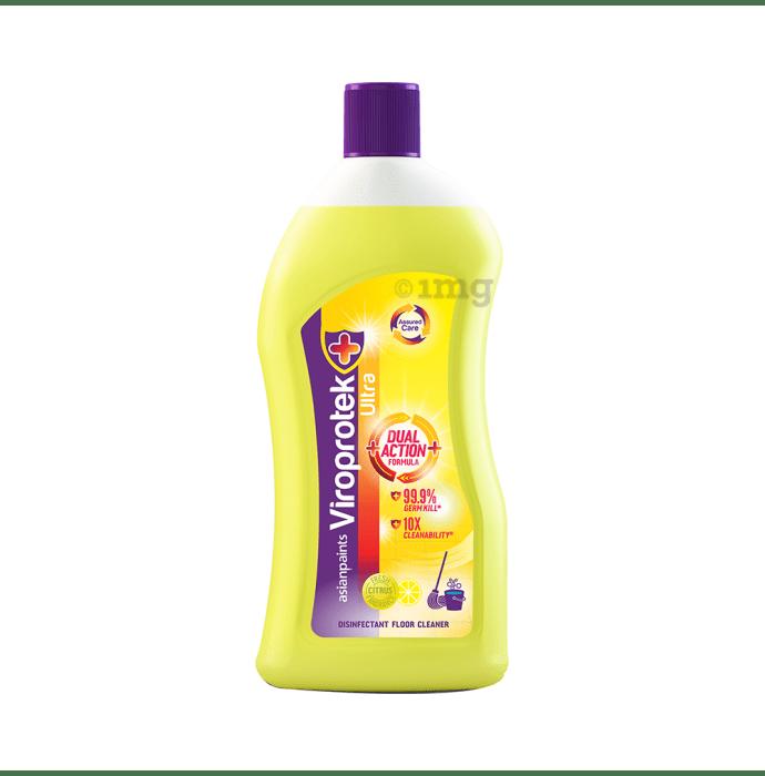 Asianpaints Viroprotek Ultra Disinfectant Floor Cleaner (500ml Each) Citrus