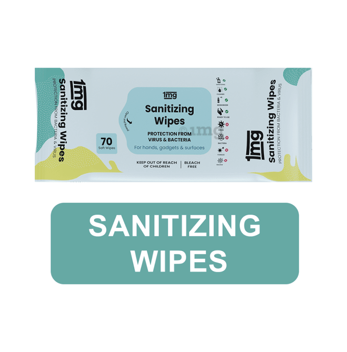 1mg Sanitizing Wipes (70 Each) Pack of 2