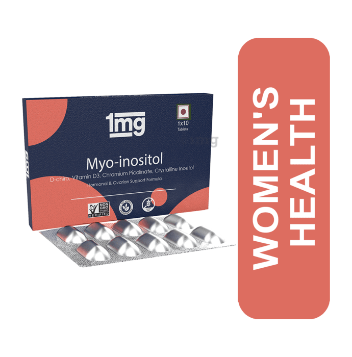 1mg Myo-Inositol Tablet with D-Chiro & Vitamin D3 for Women's Health