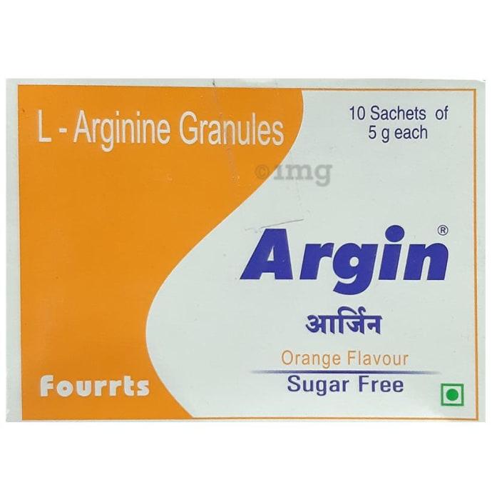 Argin Sachet Orange Sugar Free
