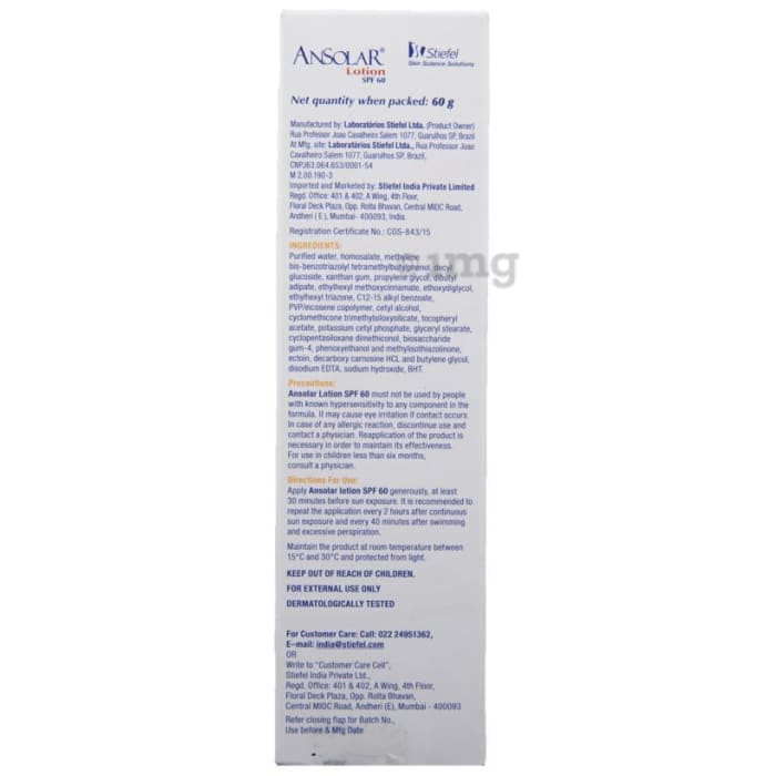 Ansolar Spf 60 Lotion