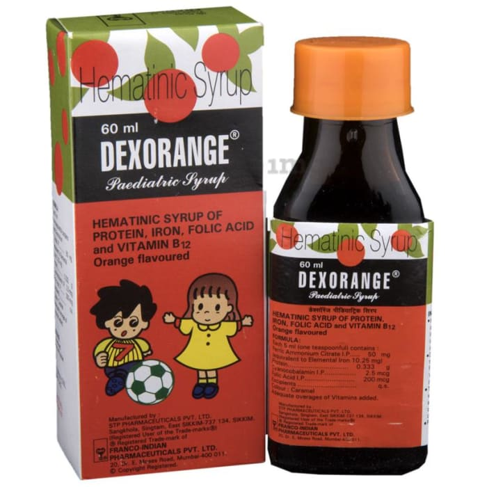 Dexorange Paediatric Syrup Orange
