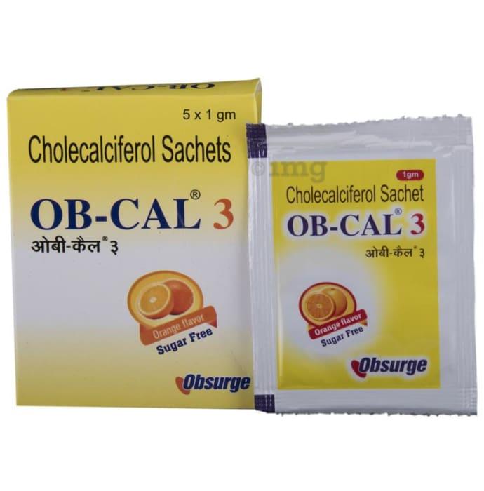 OB-Cal 3 Sachet 1gm Orange Sachet