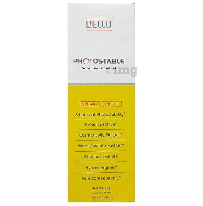 Bello Photostable Spf 40+ Sunscreen Emulgel