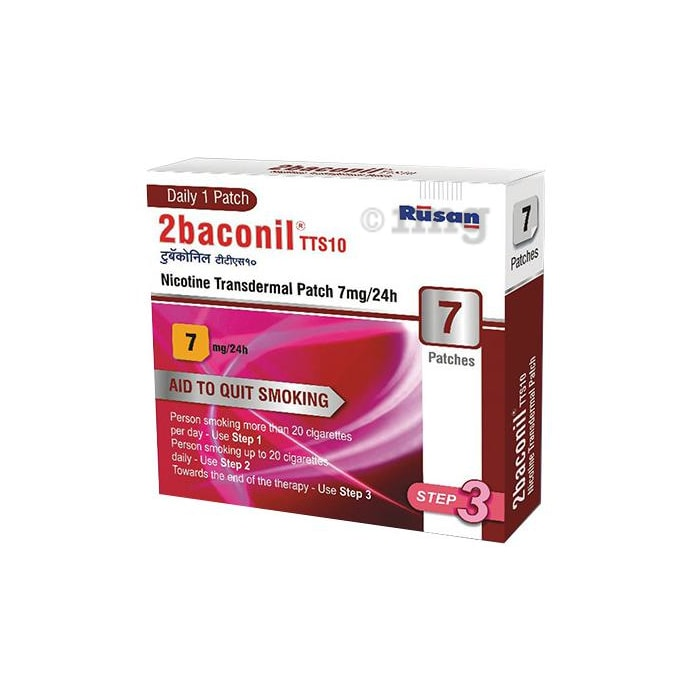 2baconil 7mg Nicotine Patch Step 3