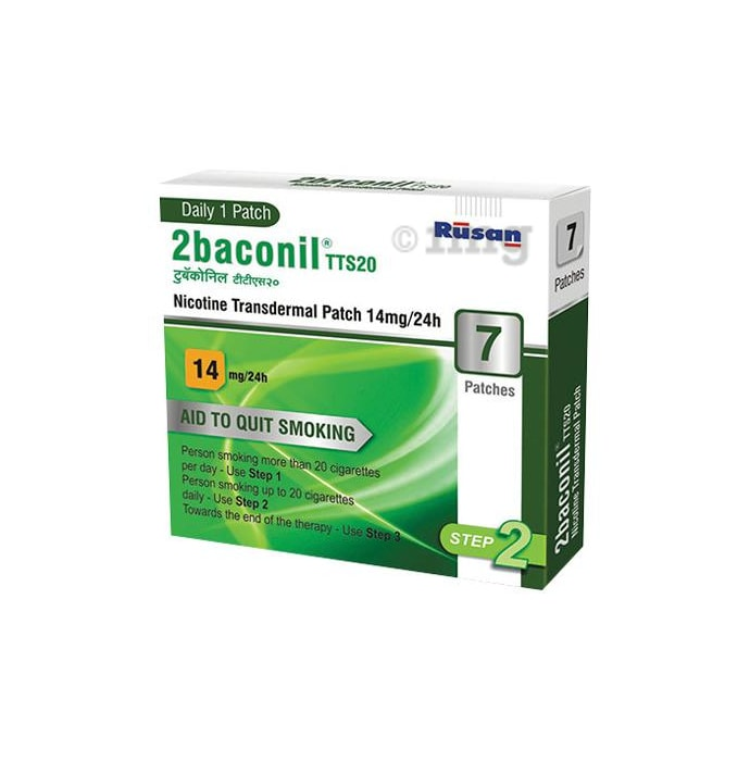 2baconil 14mg Nicotine Transdermal Patch Step 2