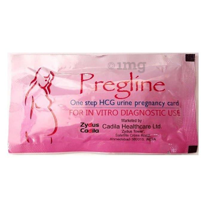 Pregline HCG Urine Pregnancy Card