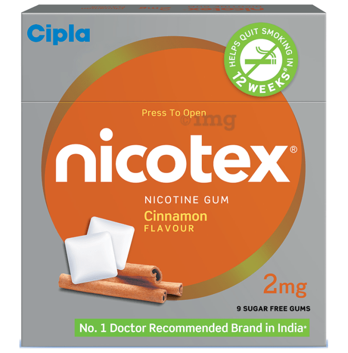 Nicotex Sugar Free Cinnamon Chewing Gums