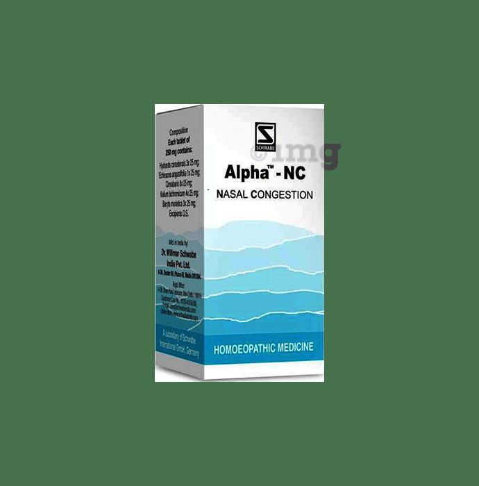 Dr Willmar Schwabe India Alpha - NC Tablet