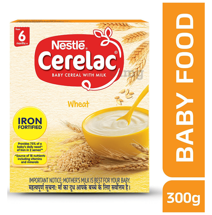 Nestle Cerelac Fortified Baby Cereal with Milk 6 Months+ Wheat
