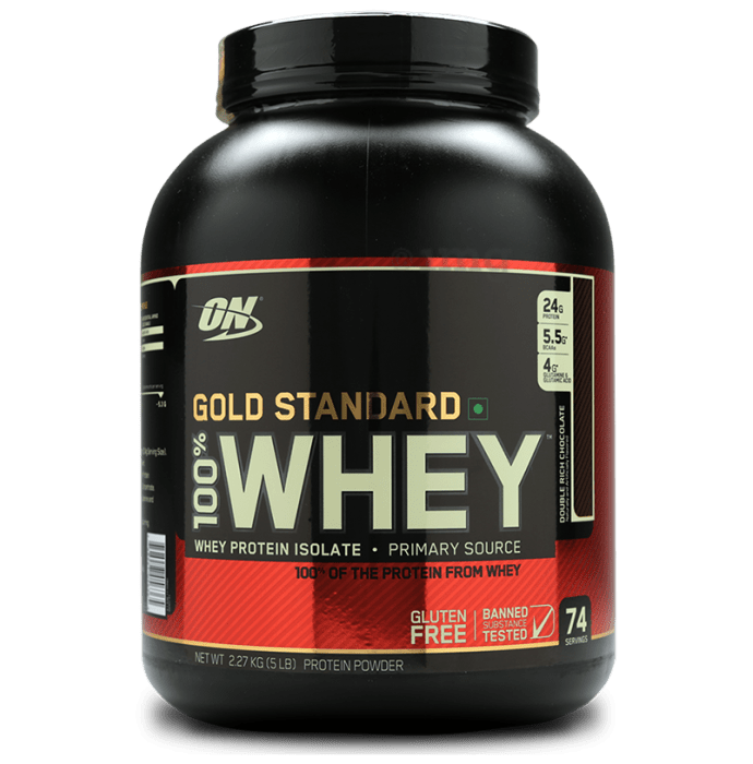 Optimum Nutrition (ON) Gold Standard 100% Whey Protein Powder Double Rich Chocolate
