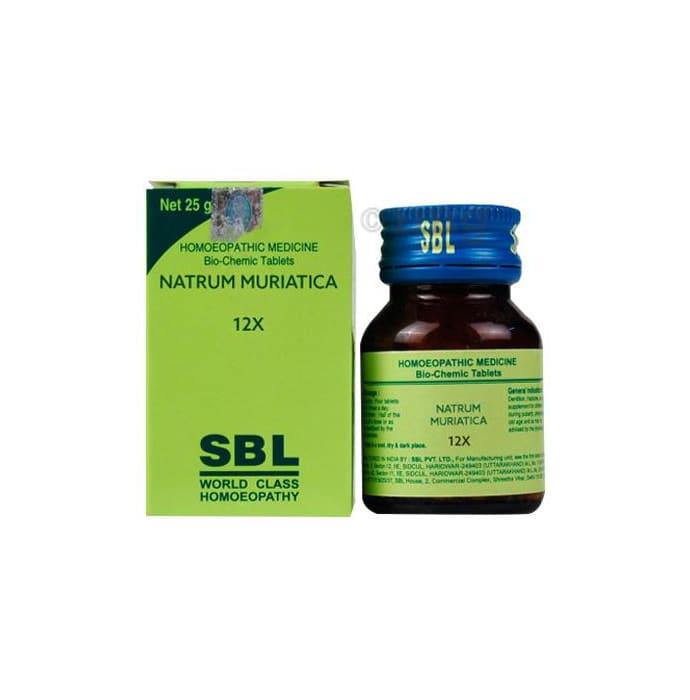 SBL Natrum Muriaticum Biochemic Tablet 12X