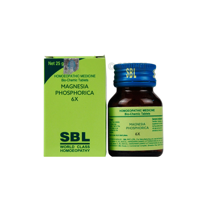 SBL Magnesia Phosphorica Biochemic Tablet 6X