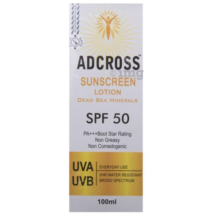 Adcross SPF 50 Sunscreen Lotion