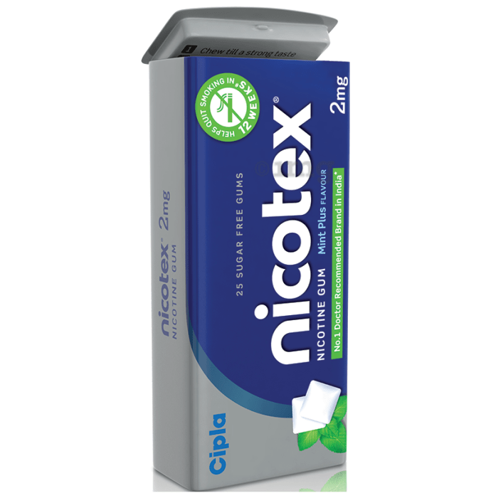 Nicotex Sugar Free Mint Plus Chewing Gums