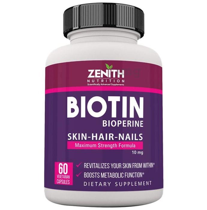 Zenith Nutrition Biotin 10000mcg Capsule