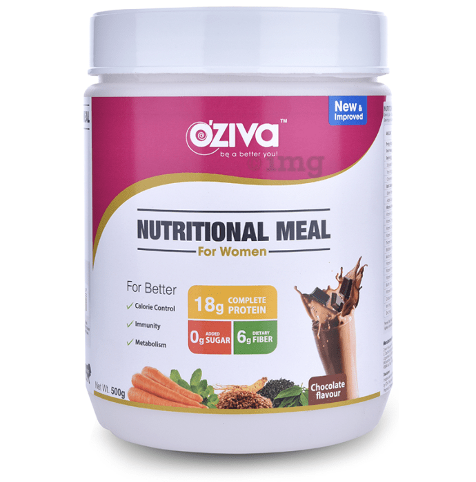 Oziva Nutritional Meal Shake for Women Chocolate