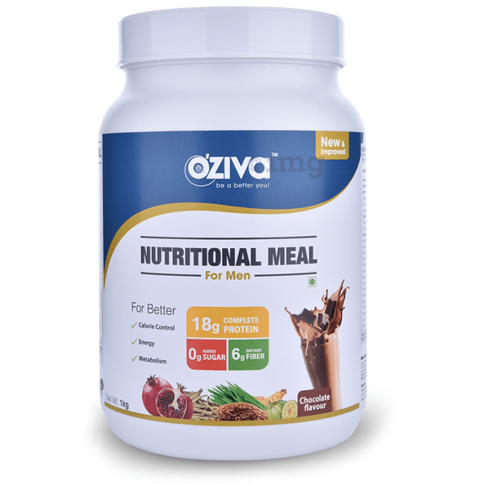 Oziva Nutritional Meal Shake for Men Chocolate