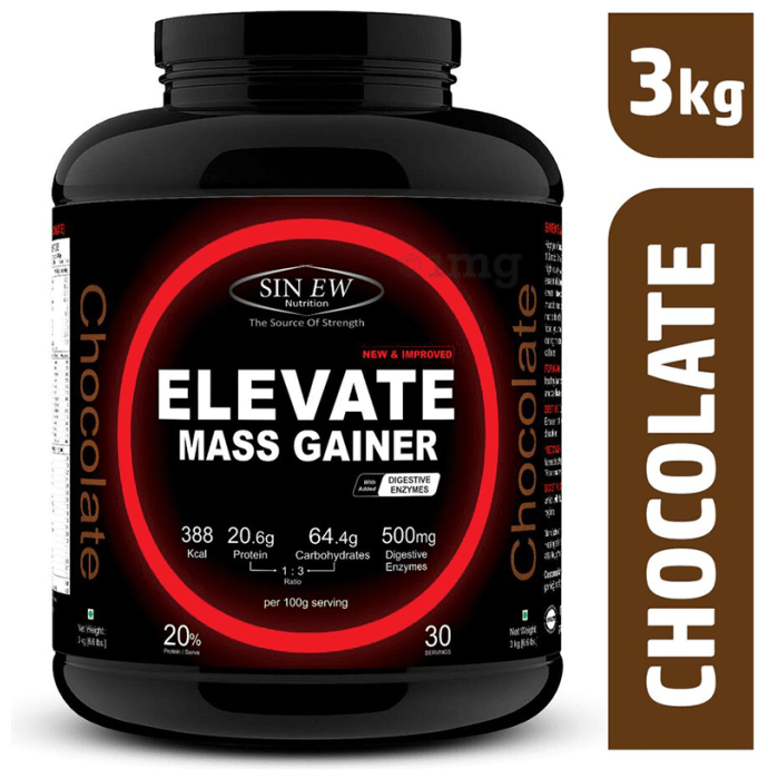 Sinew Nutrition Elevate Mass Gainer with DigiEnzymes Chocolate