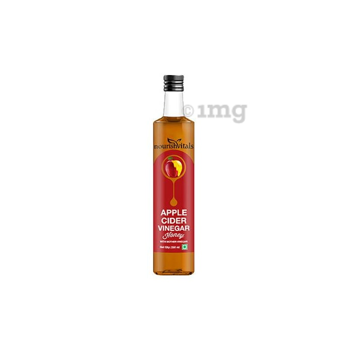 NourishVitals Apple Cider Vinegar Honey with Mother Vinegar