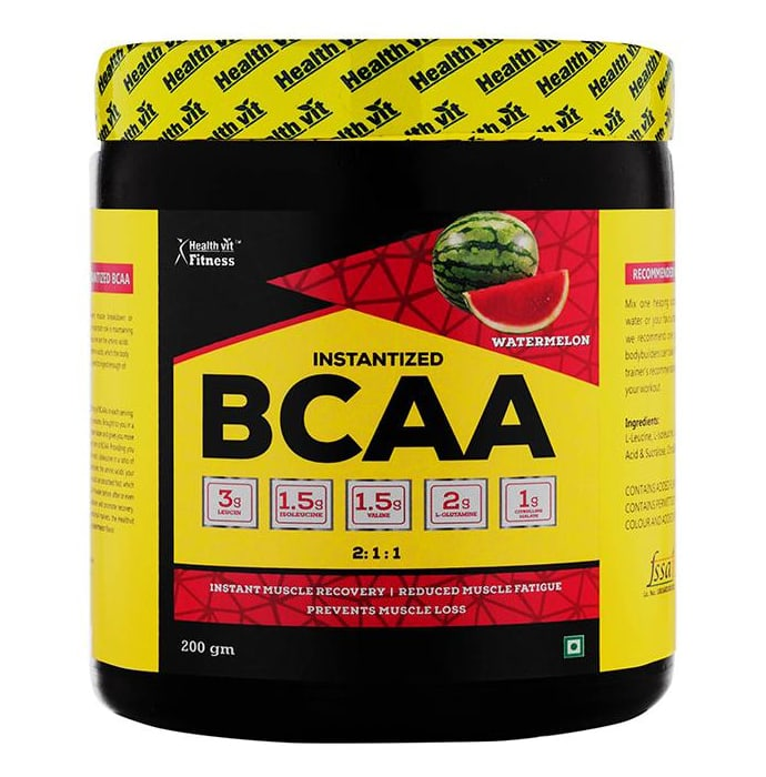 HealthVit Fitness Instantized BCAA 2:1:1 Powder Watermelon