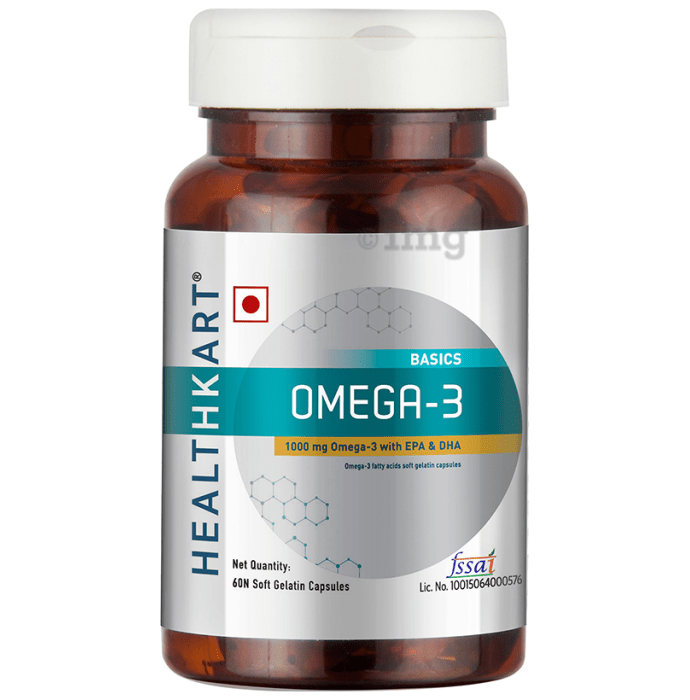 HealthKart Basics Omega 3 Soft Gelatin Capsule