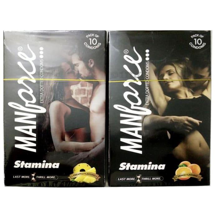 Manforce Stamina Condom Combo (Orange + Pineapple)