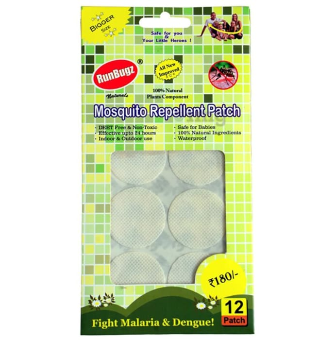 Runbugz Mosquito Repellent Patch White